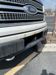 Ford Rusted Front Bumper